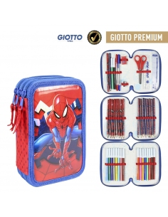 PLUMIER TRIPLE GIOTTO PREMIUM METALIZADA SPIDERMAN