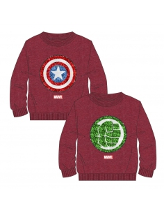 SUDADERA LENTEJUELAS BRUSH FLEECE AVENGERS