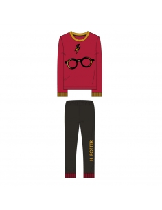 PIJAMA LARGO VELOUR HARRY POTTER