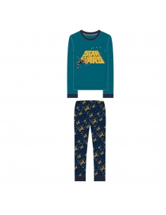PIJAMA LARGO INTERLOCK STAR WARS