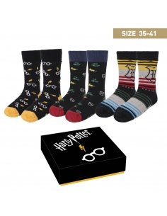 PACK CALCETINES 3 PIEZAS HARRY POTTER