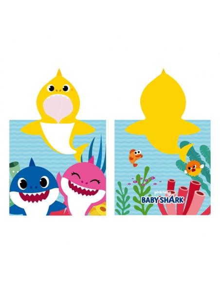 PONCHO MICROFIBRA APLICACIONES BABY SHARK