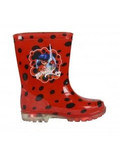 BOTAS LLUVIA PVC LUCES LADY BUG