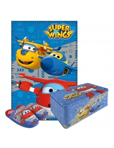 SET CAJA METÁLICA SUPER WINGS