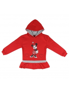 SUDADERA CON CAPUCHA BRUSH FLEECE MINNIE