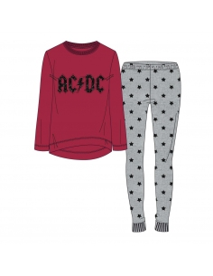 PIJAMA LARGO INTERLOCK MUSIC ACDC