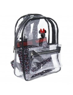 MOCHILA CASUAL MODA TRANSPARENTE MINNIE