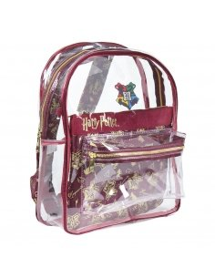 MOCHILA CASUAL MODA TRANSPARENTE HARRY POTTER