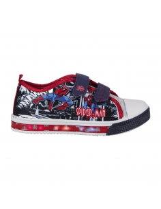 ZAPATILLA LONETA LUCES SPIDERMAN